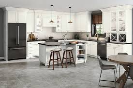 kraftmaid kitchen cabinet door styles dove white on maple kitchen with glass doors