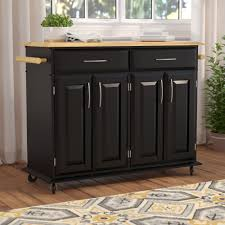 kitchen islands carts you love wayfair hamilton kitchen island with wood top