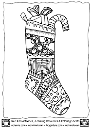 coloring pages christmas stocking kids coloring
