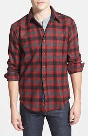 Flannel Shirts Pendleton Trail Fitted Plaid Wool Flannel Shirt Where To Buy