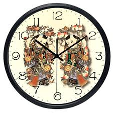 Personalized Picture Clocks Free Shipping Wall Sticker Clocks Angel Mirror Surface Wall Clock
