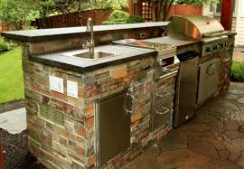 outdoor kitchen islands outdoor kitchen island with bbq grill and undermount sink