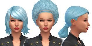 Sims 4 Blue Hair | mod the sims baby blue pastel blue non default hair colour