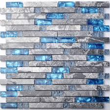 blue backsplash glass tile excellent big blue glass tile perfect