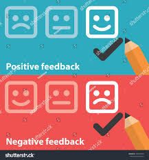 vector illustration positive negative feedback concept stock