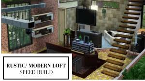 Loft Modern by The Sims 3 Rustic Modern Loft Speed Build Youtube
