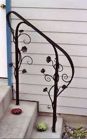 Metal Banister Rail Love How Simple This Railing Is 3ft Wrought Iron Handrail Step