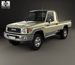 toyota cruiser 2007 toyota land cruiser single cab pickup vxr 2007 3d model hum3d
