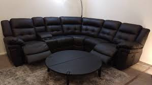Sofas Recliners Boy Leather Reclining Sofa Also Curved Back As Well In Within Lazy