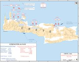 Ww2 Europe Map by Map Of Wwii Crete 1941