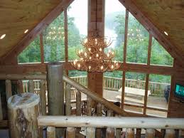 chalet style log home awesome view homeaway topton