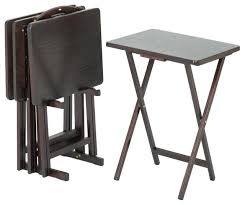 folding oversized wood tray table in espresso tv dinner tray table celluloidjunkie me