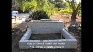Retaining Wall Garden Bed by My First Brick Block Wall Veneer Stone Planter Youtube