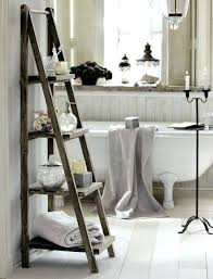 vintage bathroom storage ideas vintage bathroom shelf standing wooden ladder shelf bathroom storage
