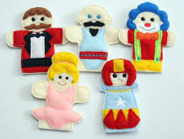 circus puppets circus finger puppets set patterns ofnah