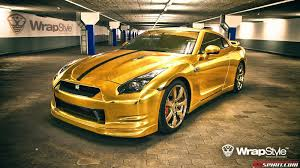 Nissan Gtr Yellow - gold wrapped nissan gt r by wrapstyle cars pinterest nissan