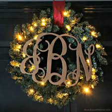 diy wreath ideas glam monogram