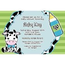 on the farm calf baby cow invite baby shower birthday