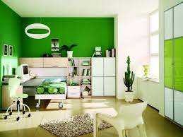 Desk With Bed Office U0026 Workspace Home Office Design With Green Colored Wall