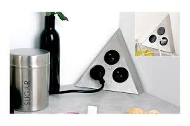 multiprise d angle à fixer sur plan de travail accessoires de cuisines