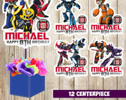 transformers party decorations transformers party etsy