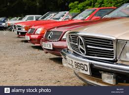 classic mercedes classic mercedes cars parked in a row stock photo royalty free