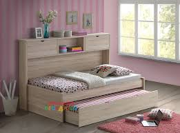 2 pepito king single trundle bed with bookcase awesome beds 4 kids