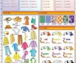 got clothes patterns colors order of adjectives worksheet