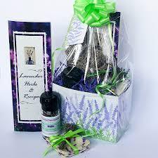 kitchen gift baskets lavender in the kitchen gift basket lavender green