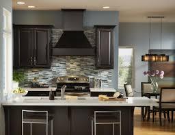 Painted Kitchen Backsplash White Glass Tile Backsplash With Dark Cabinets Nyfarms Info