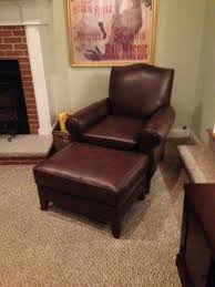 Blue Leather Chair And Ottoman Chair Latitude Run Pepperell Faux Leather Club Chair Reviews