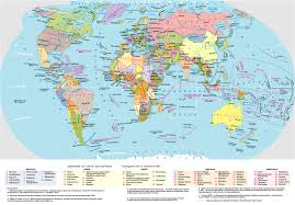 World Map Large by Large Detailed Political Map Of The World In Russian World