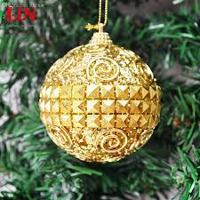 wholesale christmas decorations 8cm bright golden ball dress up