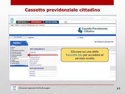 cassetto previdenziale cittadino inps direzione regionale emilia romagna informazioni istituzionali e