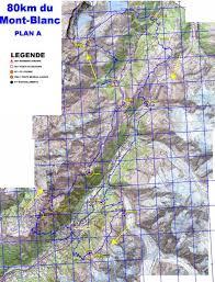Route 80 Map by Mont Blanc 80km World U0027s Marathons