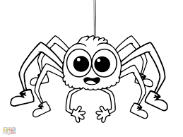 cartoon spider coloring page spider web coloring spider coloring