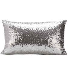 coussin rectangulaire pour canapé taie d oreiller kingko rectangulaire à sequins pour canapé