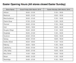easter 2016 supermarket opening hours for aldi dunnes lidl