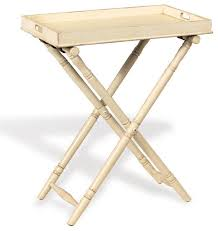 fold away tray table devon butler beach style folding tray table ivory 36 h view in