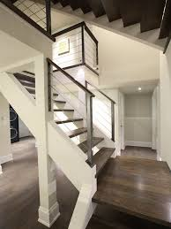 Banister Staircase Powder Coated Stair Railing Houzz