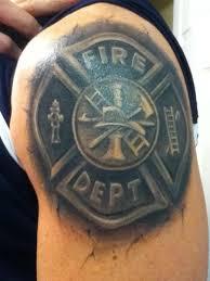3 d firefighter maltese cross shoulder shared by