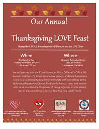 thanksgiving day org annual thanksgiving love feast u2014 l o v e foundation