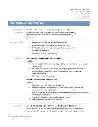 photography resume sample resume templates airframe mechanic