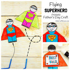 flying superhero father u0027s day craft template kids craft room