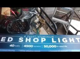 lights of america led shop light lights of america 4ft led shop light review 36 youtube