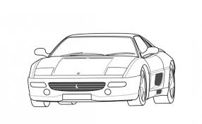 ferrari f355 car coloring free cars coloring pages