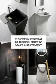 Bathroom Sinks With Pedestals 33 Modern Pedestal Bathroom Sinks To Make A Statement Digsdigs