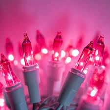 100 count mini lights case of 100 count incandescent mini christmas lights pink with fia