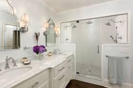 Carrara Marble Bathroom Countertops Dual Shower Head Bathroom Traditional With Carrara Marble Double