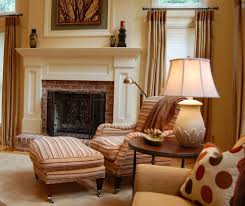 chicago brick fireplace mantel family room traditional with area